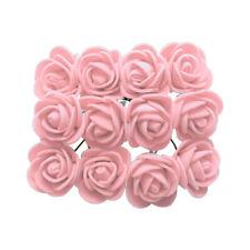 144pcs Handmade Foam Rose Flowers Wedding Engagement DIY Craft Decor Pink