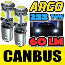 2x 5 SMD LED XENON WHITE CANBUS ERROR FREE SIDELIGHT BULBS T4W BA9S BAYONET 5050