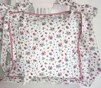 SUNNY*Stuhlkissen*Bezug*40x40cm*Landhaus Cottage*weiß*rot*rosa*Landhaus*Cottage*