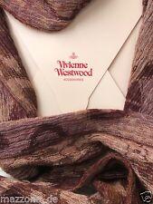 ☆ VIVIENNE WESTWOOD Schal, Tuch, scarf 36x195 braun Luxus Geschenkbox LP 199€