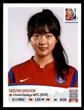 Panini Women's World Cup 2015-Seo hyunsook Corea del Sur nº 352