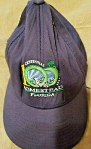 Flexfit Hat small Medium Port Authority  Homestead Florida Blue 100 years