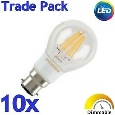 10x Sylvania 5.5W=45w B22 560lm Dimmable Clear LED Filament Light bulb WW 2700K