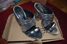 "BRAND NEW NEXT LADIES SILVER PARTY SHOES SIZE 7  WITH 4.5"" HEELS"