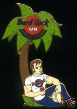Hard Rock Cafe HOLLYWOOD 1990s Construction Worker Under Tree PIN