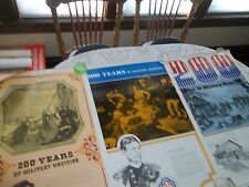 LOT OF 3 POSTERS 200 YEARS OF MILITARY MEDICINE 1775-1975 LINCOLN-WALTER REED +