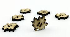 Tajadera grandes botones de madera de 30 mm / Scrapbooking / Láser de corte de madera / Costura / Manualidades