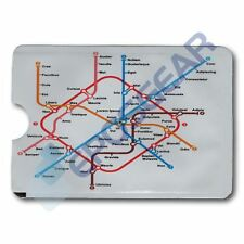Underground Map Card Minder RFID Blocking Contactless Debit Credit Sleeve Wallet