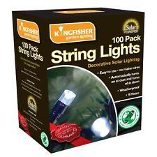 Cadena De Luces Solar de 100 LED Blanco Iluminación de jardín