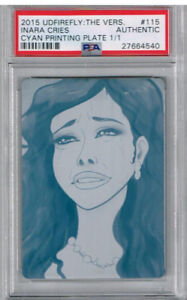 2015 UD Firefly: The Vers. Inara Cries Cyan Printing Plate PSA Authentic 1/1
