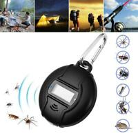 Outdoor Portable Electronic Ultrasonic Solar USB Insect Mosquito Repeller Killer