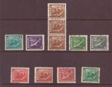 Iceland, Fish, part set, perf. 14, F/U, 1939 - 45