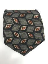 Robert Talbott Studio Men's Geometric Charcoal Grey 100% Silk NeckTie