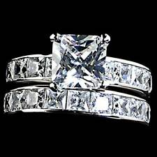 7mm_Princess All Clear Cz Wedding Set Ring_Sz-7_Nf 925 Sterling Silver