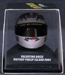 Metal 1:8 Valentino Rossi Helmet - 397 040096 - MotoGP Philip Island 2004