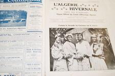 L'ALGERIE HIVERNALE 1913  ETIENNE DINET ORIENTALISME PHOTOGRAPHIES GRAVURES