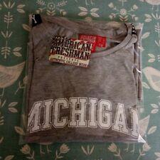 University Of Michigan Grey T-Shirt UK Size 12 Unworn With Tag