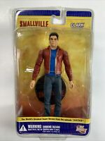 SMALLVILLE. CLARK KENT ACTION FIGURE. JUSTICE EPISODE. NOC. DC DIRECT. #GG