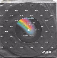 """CONWAY TWITTY - YOU'VE NEVER BEEN THIS FAR BEFORE - 7"""" 45 VINYL RECORD - 1973"""