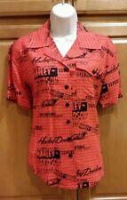 HARLEY DAVIDSON Short Sleeve Allover Print Button Down Shirt 96373-02VW MEDIUM