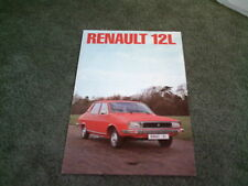 December 1976 / 1977 RENAULT 12 L SALOON - UK FOLDER BROCHURE