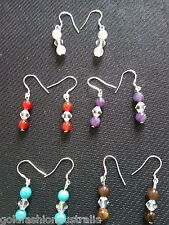 Bulk Crystal stones Dangle Earrings Plated Fashion 5 pairs