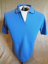 Outer Banks Women's Golf Tennis V-Neck Short Sleeve Polo~SKY BLUE~MEDIUM ~ NEW