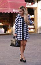 Zara  Black and White Boucle Houndstooth Coat Jacket Extra Large XL