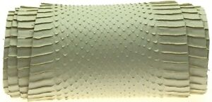 Snake Skin Hide Lifted Scales SNAKESKIN tanned Leather Craft Supply Wax White