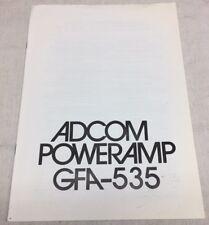 Adcom Gfa-535 Original Owners Manual M018