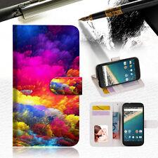 Colorful Cloud Wallet Case Cover for Google Pixel XL A021