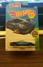 Hot Wheels 2017 17 Ford GT 2016 HW Exotics Non-Super blue