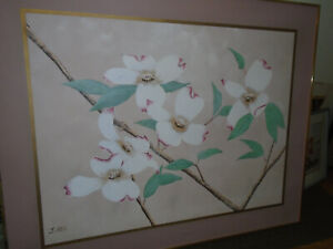 "J. Allen Signed Floral Original Oil Painting  48"" X 60"" Framed"