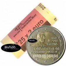 Rouleau 25 x 2 euros LUXEMBOURG 2018 - Anniversaire de la Constitution - UNC