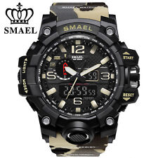 Men's Dual Display Wristwatches Military Alarm Quartz SMAEL Sports Watch AU