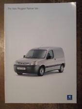 PEUGEOT PARTNER VAN orig 2002 UK Mkt Sales Brochure