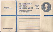 GB entiers postaux: Lettre recommandée; 23p + 1/2p RP103, taille G; non utilisé