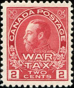 Canada Scott MR2 Admiral War Tax Stamp  VF MH OG (19343)