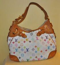 Authentic Louis Vuitton Greta Monogram Multicolor White Leather Shoulder Bag