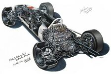 A3 Honda ra272 Cutaway Drawing Wall Poster Art Picture Print