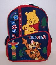 """Disney WINNIE the POOH & TIGGER Deluxe Large 16"""" BACKPACK Travel Tote BAG NEW!!"""