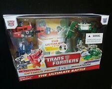 Transformers Ultimate Battle OPTIMUS PRIME vs MEGATRON Figure Set Exclusive DVD