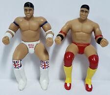 British Bulldog & Ken Shamrock - Wwe Wwf 1997 Jakks Pacific Thumb Wrestlers Lot