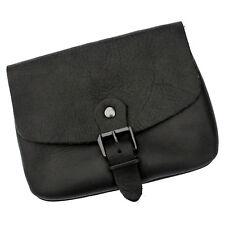 MITTELALTER klassische Gürteltasche Echt Leder schwarz Tasche edel zeitlos LARP