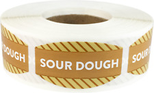 Sour Dough Grocery Market Stickers, 0.75 x 1.375 Inches, 500 Labels Total
