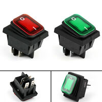 RLEIL RL2-102 Waterproof IP65 Car Rocker Switch 4Pin ON/OFF 24V 10A Red Green BK