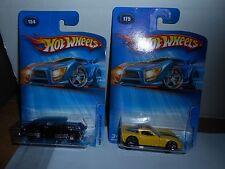 Lot 2 Hot Wheels 2005 #175 Corvette C6 & #154 1947 Chevy Fleetline Moc!