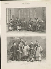 1887 CHILD LIFE IN CHINA SCHOOLING COSTUMES