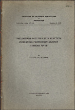 1913 Skin Reaction Showing Protection Immunity Against Typhoid Fever, Antibodies