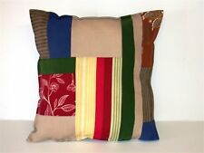 (1) Indoor / Outdoor Patio Pillow ~ Patchwork ~ 16 x 16 ~ 26856 **NEW**